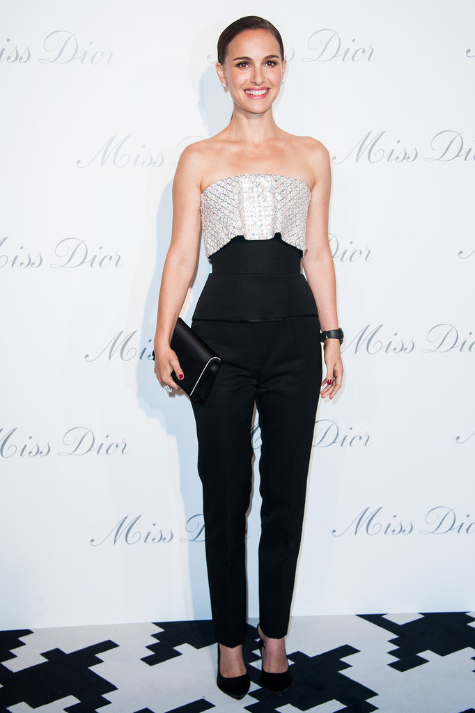 Natalie Portman in Dior Haute Couture Bustier and Pants