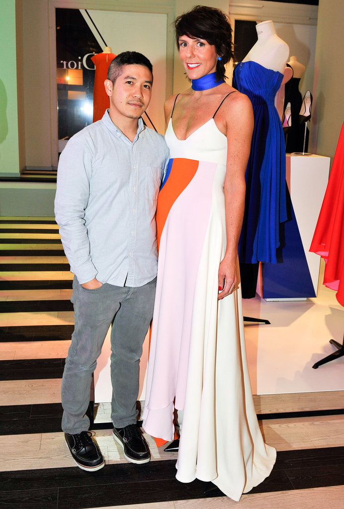 Thakoon Panichgul and Sarah Easley at the Kirna Zabete reopening party.