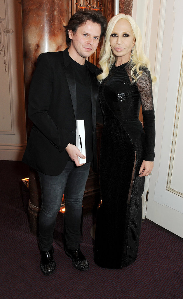 Christopher Kane and Donatella Versace at the British Fashion Awards.