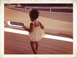 Blue walked around the deck of a yacht while on vacation. Source: Tumblr user Beyoncé