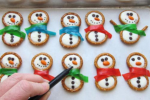 Frosty the Snowmen Pretzels