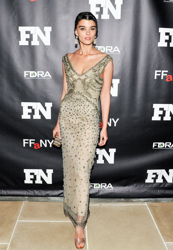 Crystal Renn at the Footwear News Achievement Awards.
