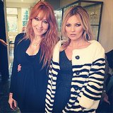 Makeup artist Charlotte Tilbury posed with Playboy's latest cover girl, Kate Moss.  Source: Instagram user ctilburymakeup
