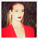 There is only one word to describe Rosie Huntington-Whiteley's red carpet look: fierce. Source: Instagram user rosiehw