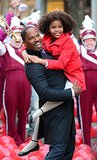 Jamie Foxx and Quvenzhané Wallis looked like they had bonded on the set of Annie in NYC on Tuesday.