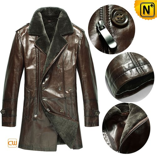 Mens Designer Shearling Leather Coat CW868816