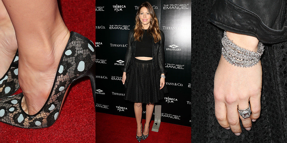 Jessica Biel Officially Pulls Off the Winter Crop Top