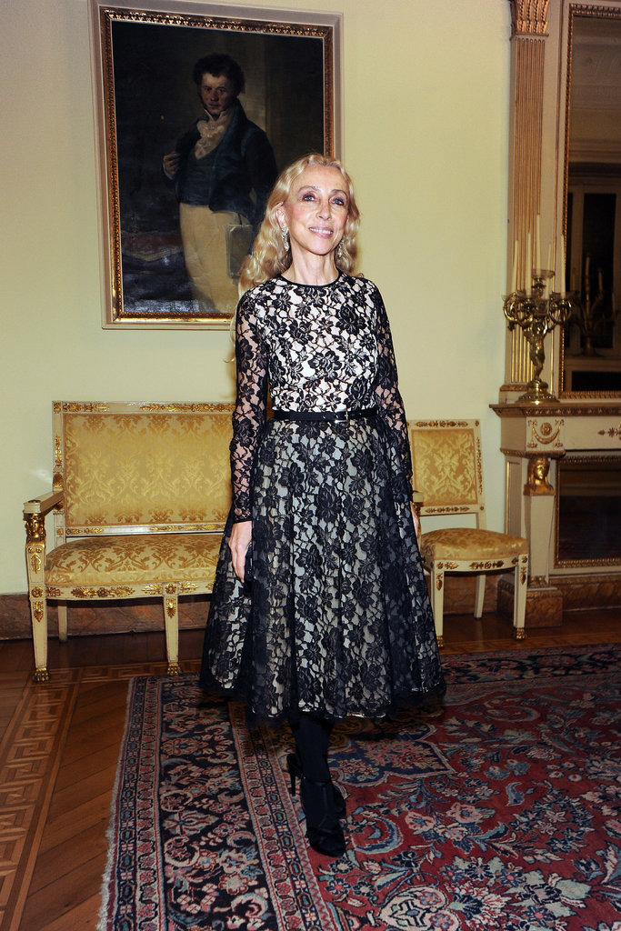 Franca Sozzani at the Michael Kors Milan cocktail party.