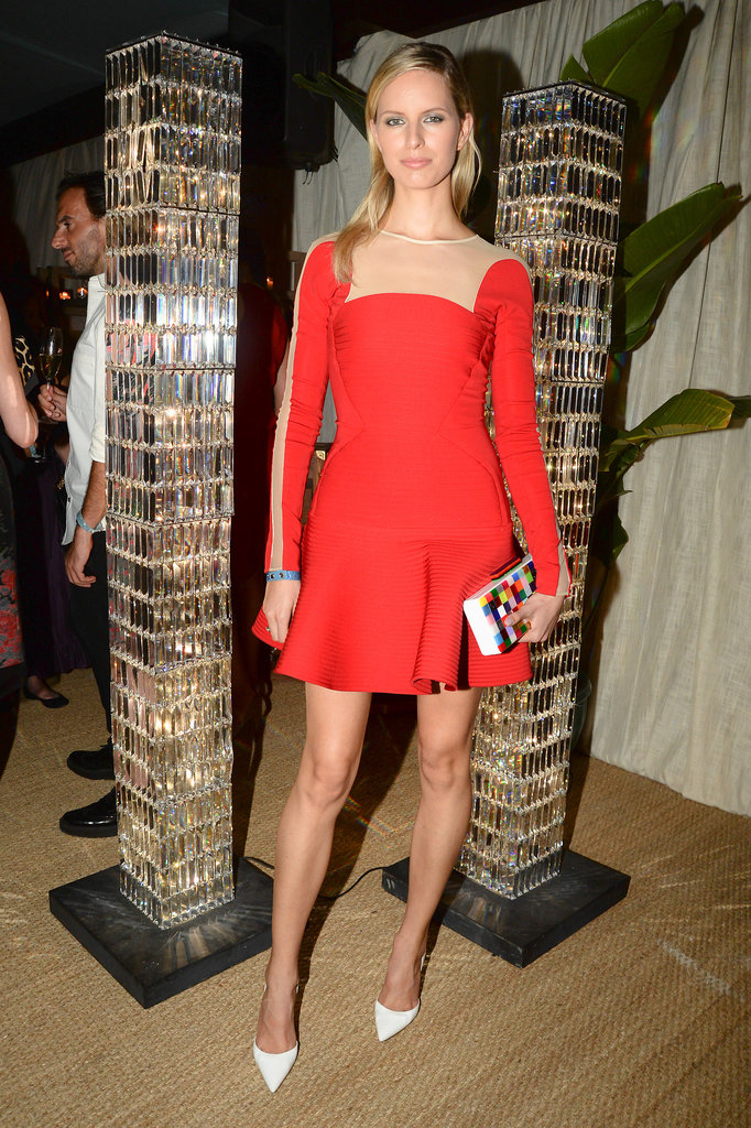 Karolina Kurkova at the Swarovski Crystal Palace dinner.