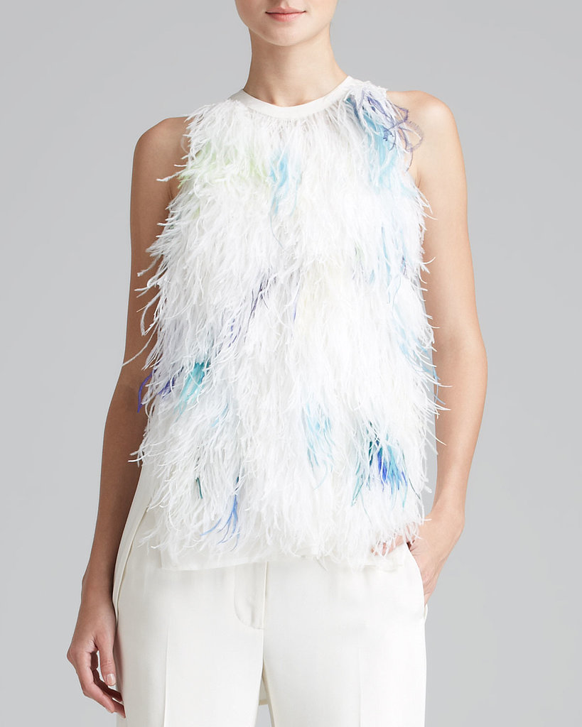 For the ultimate party top, look no further than this 3.1 Phillip Lim Sleeveless Feather Tank ($795) — it practically screams NYE!
