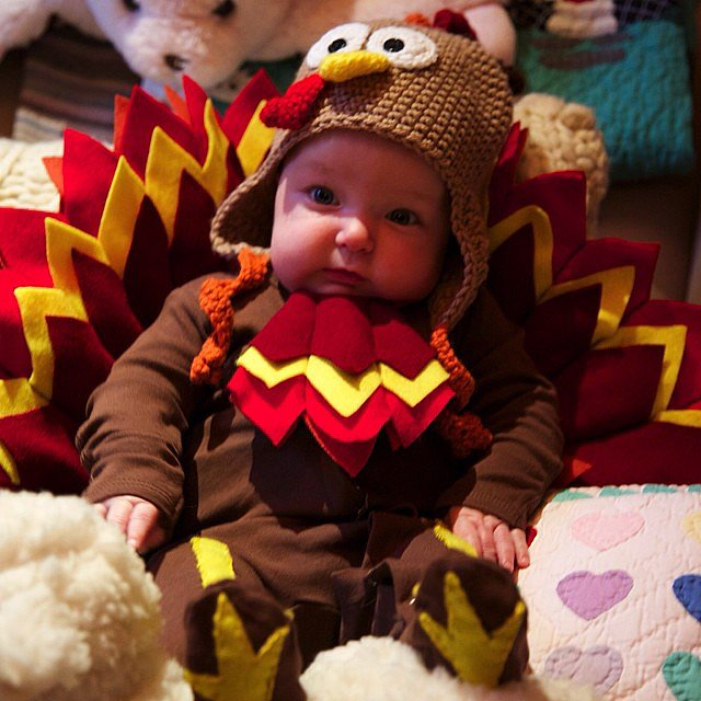 Jimmy Fallon had the cutest turkey ever at his Thanksgiving celebration, his daughter Winnie! Source: Instagram user jimmyfallon