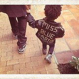 How cool is Blue Ivy Carter's custom leather jacket? Source: Instagram user beyonce