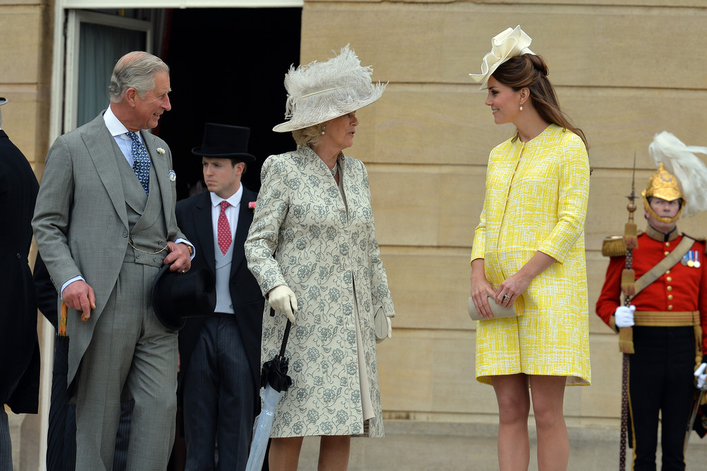 Kate chatted with Prince Charles and Camilla, Duchess of Cornwall.