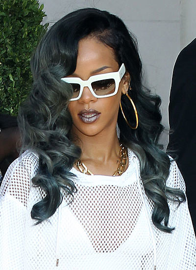 Rihanna: Black to Gray Ombré