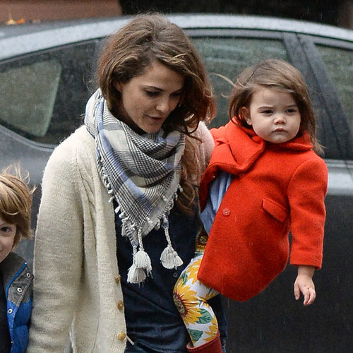 Keri Russell With Children in Brooklyn