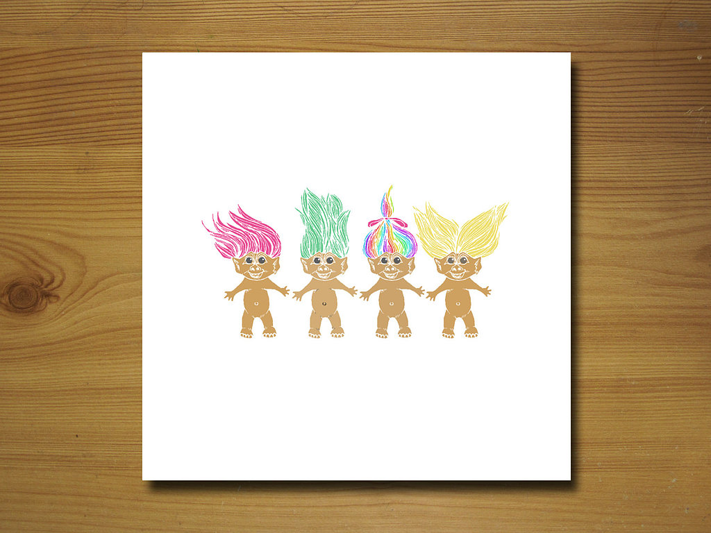 Trolls Greeting Card