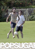 Adam Levine kicked a soccer ball around shirtless during a June trip to Mexico.
