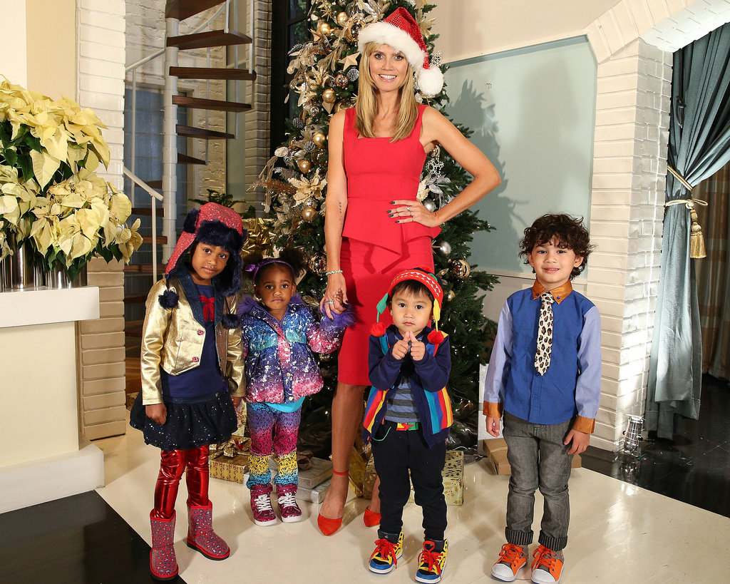 "No, those aren't Heidi Klum's little helpers — they're models for her Babies""R""Us collection!"