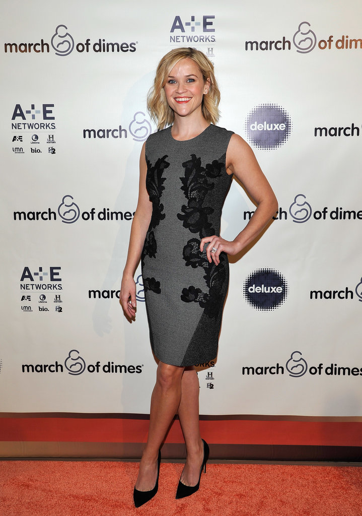 Reese Witherspoon posed for pictures at the March of Dimes event.