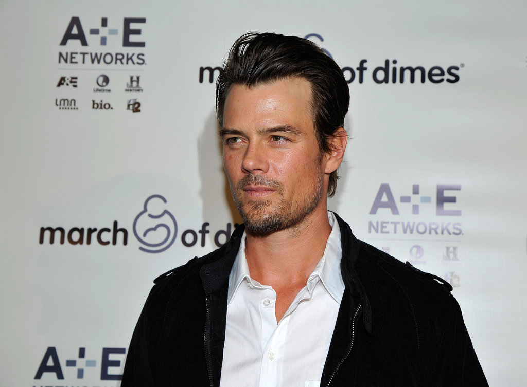 New dad Josh Duhamel attended the March of Dimes luncheon.