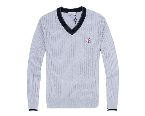 Moncler Mens Sweater College Shallow Gray