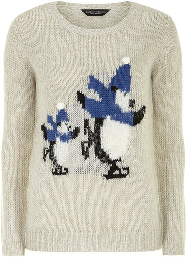 Grey penguin jumper
