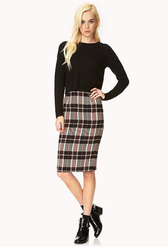 FOREVER 21 Retro Plaid Pencil Skirt