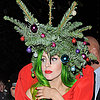 Lady Gaga Dressed as a Christmas Tree