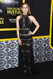 Amy Adams wore a black Elie Saab gown.