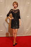 Posing in a sequined lace Jenny Packham dress for the 2010 CMT Artists of the Year awards.