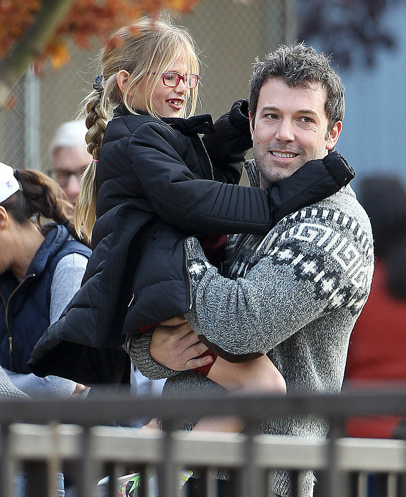 Ben Affleck had a playful weekend afternoon in LA with his daughter Violet.