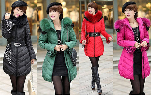Discount Korean female genuine Nagymaros collar Long Lady Down & Parkas coat in women down parkas on sightface.com