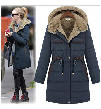 fashion slim thickening liner cold-proof cotton-padded jacket outerwear
