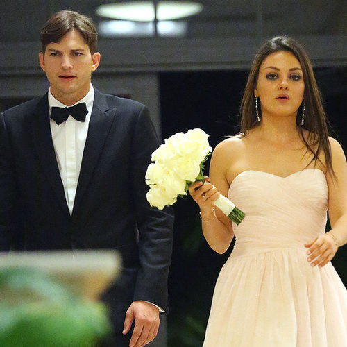 Mila Kunis and Ashton Kutcher at Family Wedding