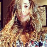 Eliza Dushku sported messy locks while getting a haircut. Source: Instagram user elizadushku