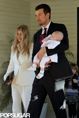 Fergie and Josh Duhamel at Baby Axl's Baptism | Pictures