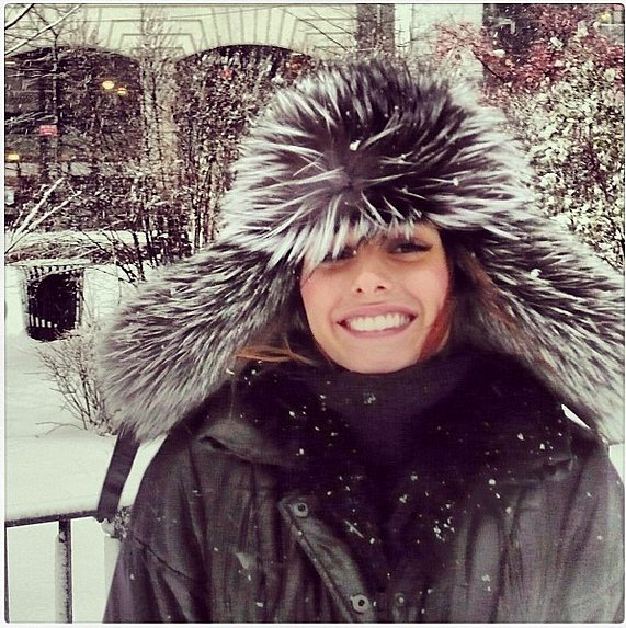 A little cold and snow didn't stop Olivia Palermo from cracking a smile. Source: Instagram user therealoliviap