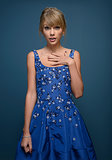 "Taylor Swift gave her best, ""Who, me?"" pose during the Toronto International Film Festival in September 2013."