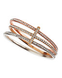 Your pals will never guess that this Neiman Marcus Panacea Tricolor Crystal Cross Bangle Set ($35) rings in under $50.