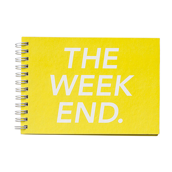 Even on Monday, you'll be excited for Saturday using this bright weekend calendar ($25).