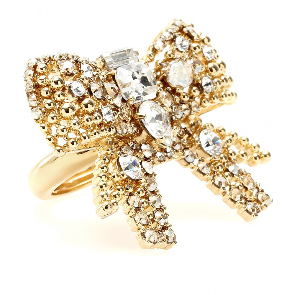Miu Miu Crystal Bead Embellished Cocktail Ring ($295)