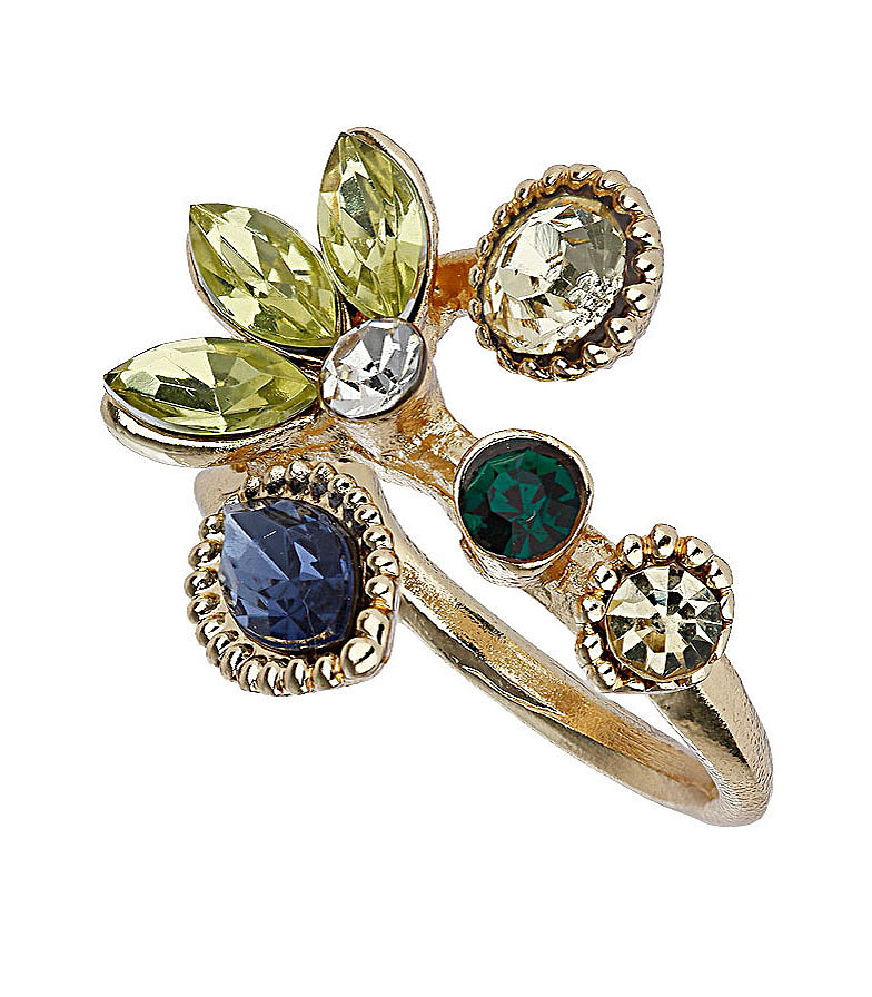 Topshop Leaf Cluster Cocktail Ring ($15)