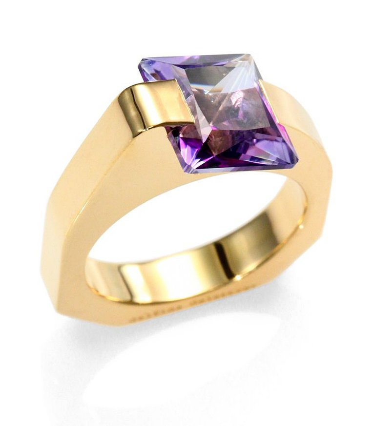 Delfina Delettrez Purple Topaz Cocktail Ring ($460)