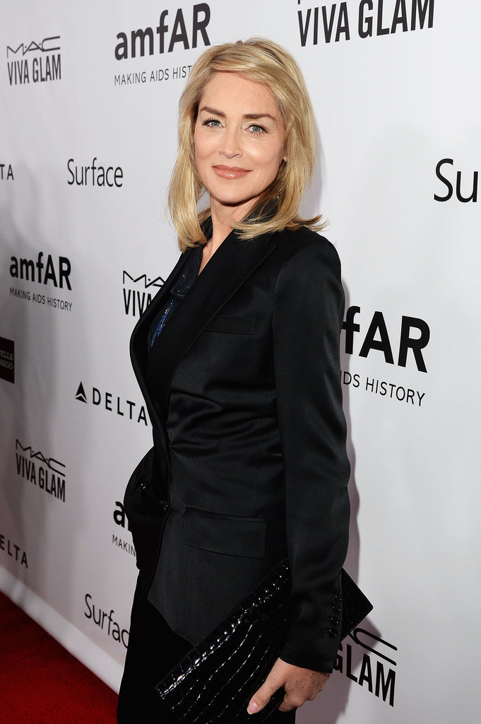 Sharon Stone looked ageless at the amfAR Inspiration Gala.