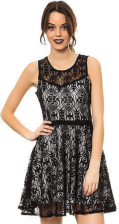 Jack BB Dakota The Diza Nouvelle Lace Dress in Black