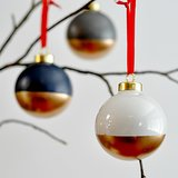 Gold-Dipped Ornaments