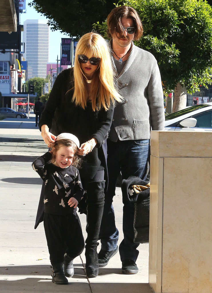 Rachel Zoe and husband Rodger Berman ran errands with little Skyler in LA on Saturday.