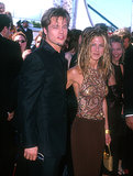 Brad Pitt was accompanied by then-wife Jennifer Aniston at the Emmys in September 1999.
