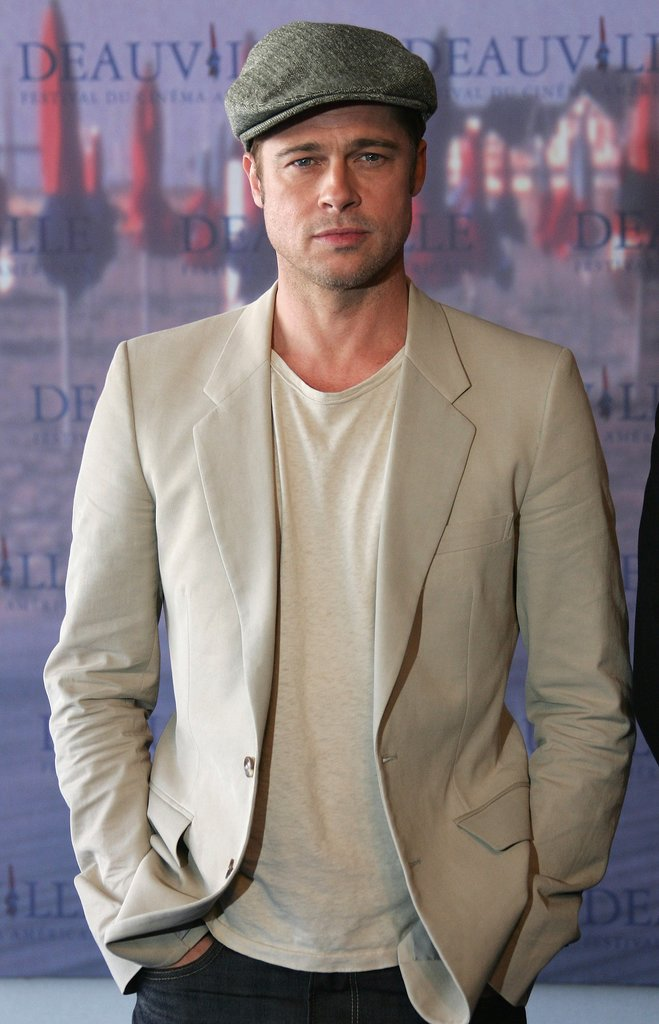 Brad Pitt rocked a blazer and newsboy cap at a photocall for his film The Assassination of Jesse James in France in September 2007.