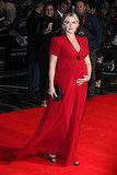 Kate Winslet glowed as she showed off her baby bump in a gorgeous picture during the London Film Festival.